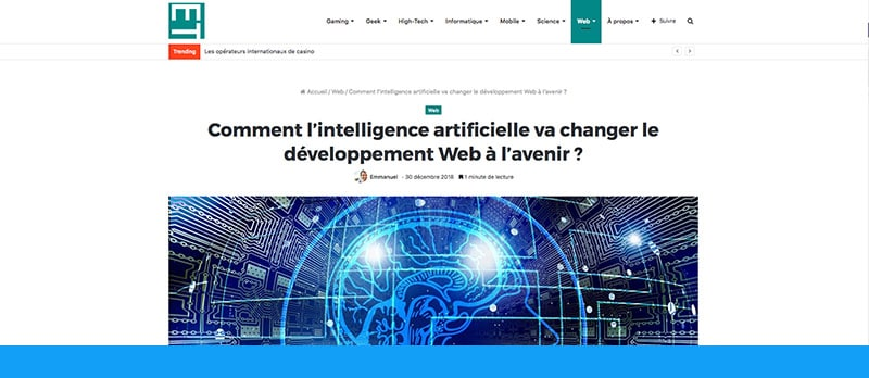 Intelligence artificielle :  l'avenir du développement Web ?